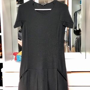 Theory Wool-blend Drop Waist Dress